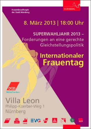 Plakat Frauentag