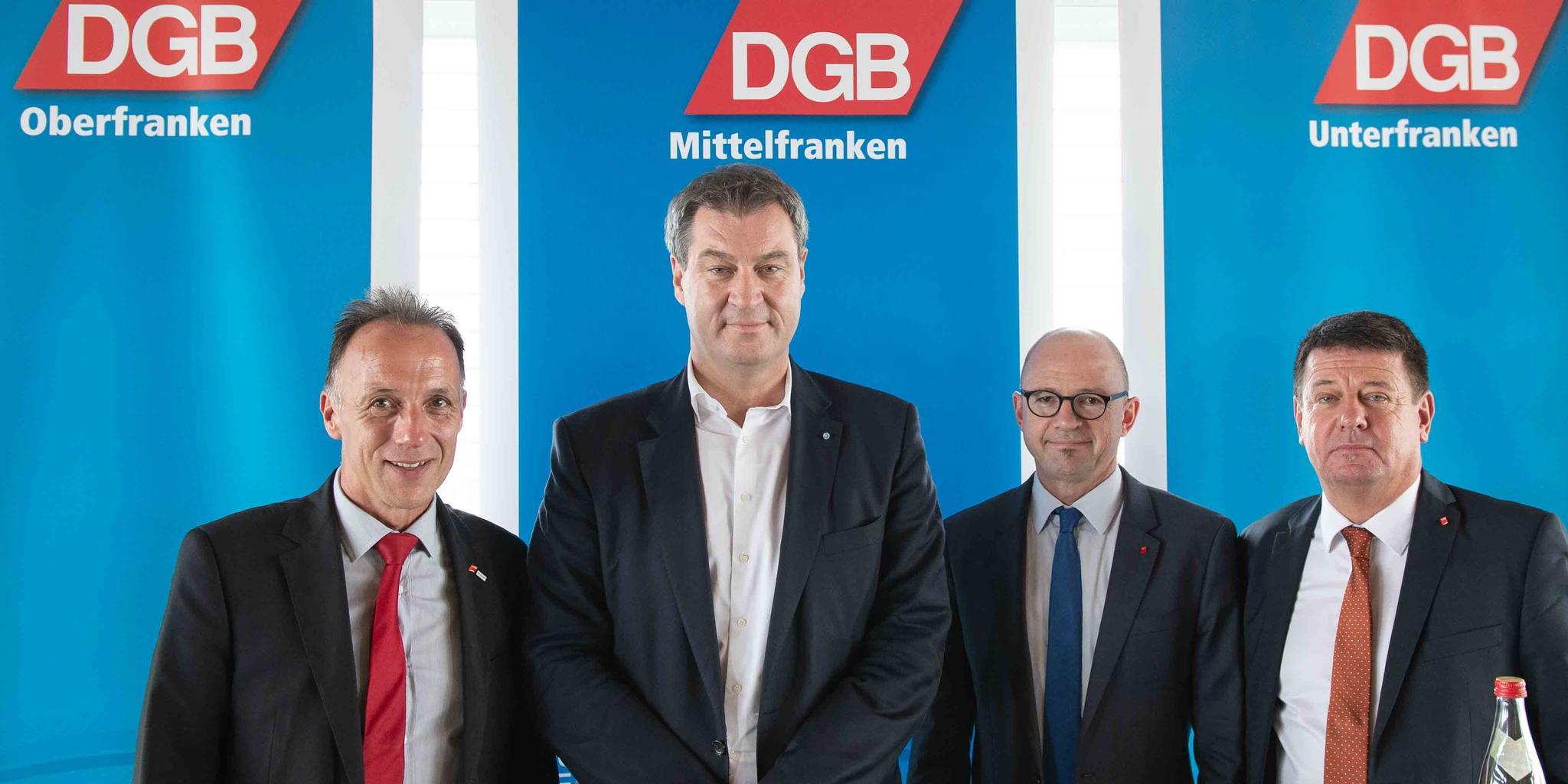 DGB im Gespräch mit Ministerpräsident Söder