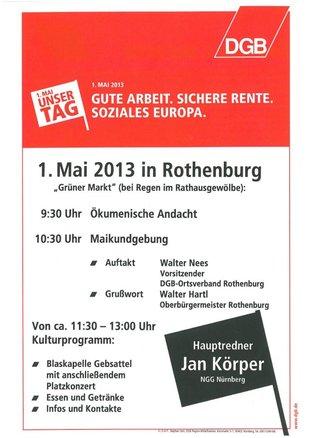 1. Mai Rothenburg
